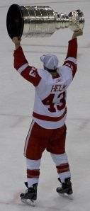 Darren Helm with the Stanley Cup last year