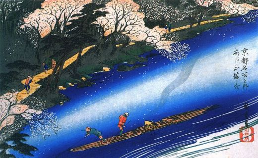 800px-Hiroshige_Poling_a_raft_on_a_river